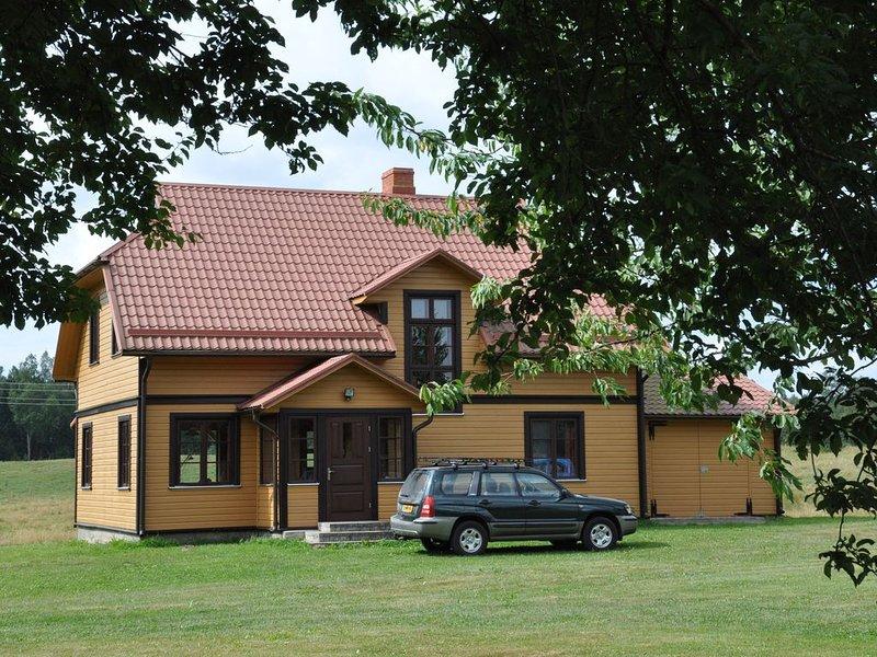 Landelijk gelegen vakantiewoning Beverhuis 2-6 pers., holiday rental in Kurzeme Region