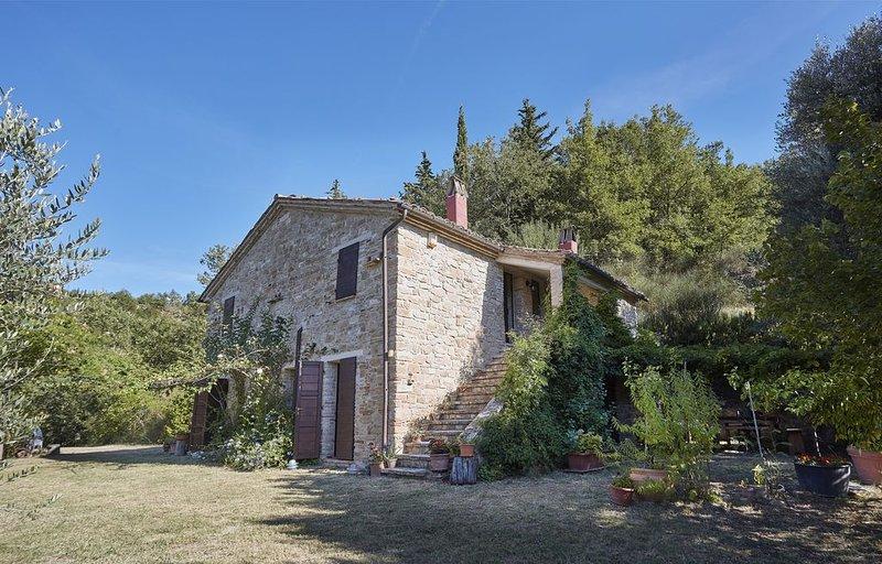 casa in pietra con giardino e orto biologico fra mare e  monti, holiday rental in Montedinove