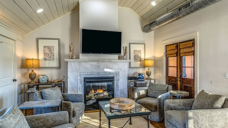 Living Room - Featuring a Gas Fireplace