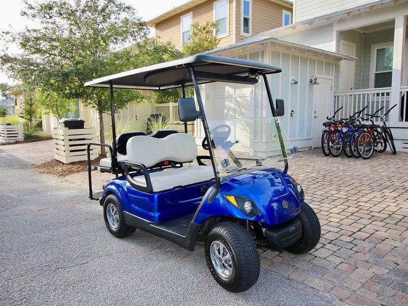 Golf Cart & Beach Cruisers Included with Every Rental