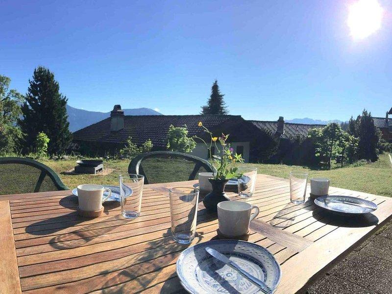 Familienfreundliche Wohnung Axalp, holiday rental in Bernese Oberland
