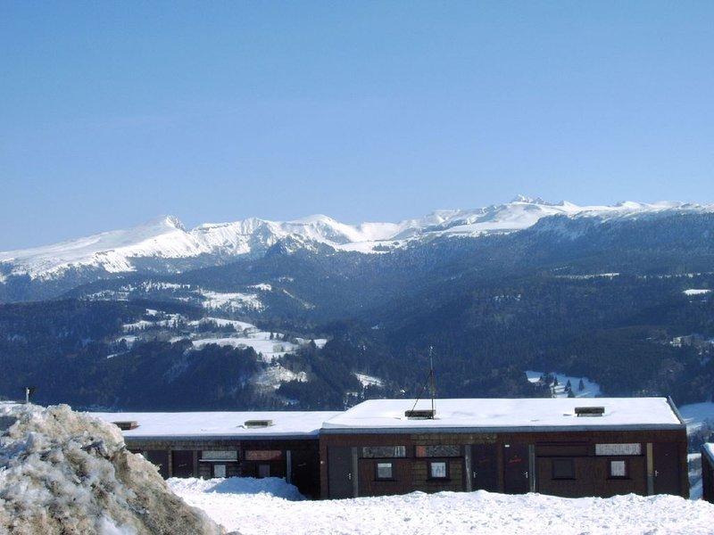 T2  Duplex Vue exceptionnelle sur le Sancy, location de vacances à Rochefort-Montagne