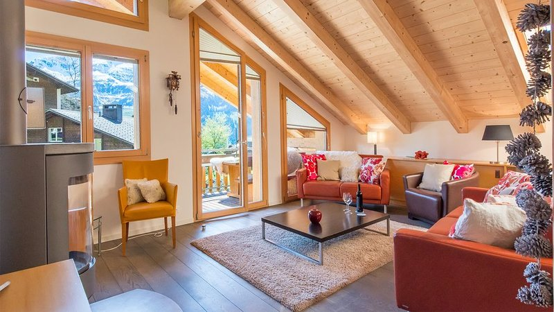 Duplex Penthouse in Chalet Luna, holiday rental in Jungfrau Region