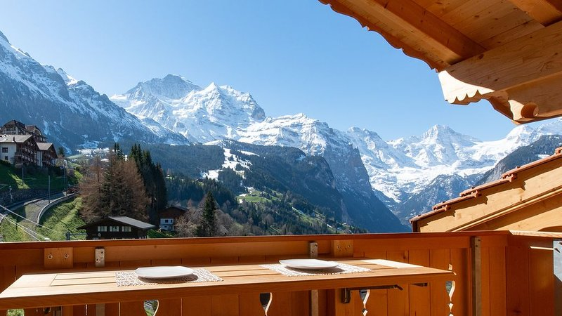 5 Star Penthouse Apartment in Chalet Aberot !!, vacation rental in Wengen