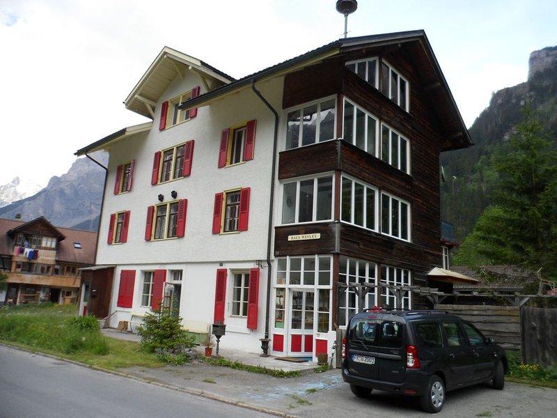 Ferienwohnung in Haus Wesley, Kandersteg, vacation rental in Achsete