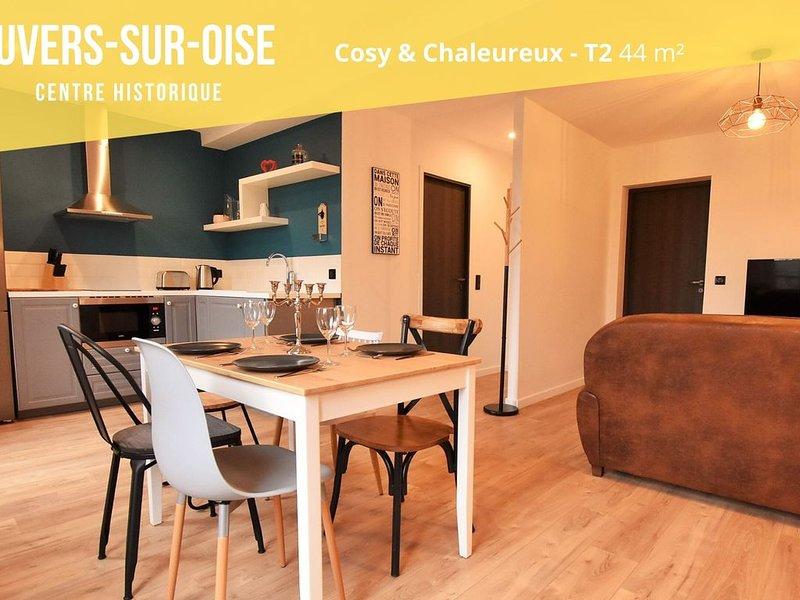 Centre historique d'Auvers-sur-Oise-T2-1er, location de vacances à Baillet-en-France