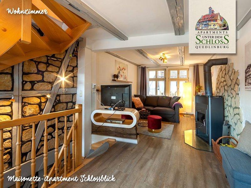 Wohlfühl-Apartment (87m², Einzeldenkmal) inmitten der Altstadt von Quedlinburg, location de vacances à Halberstadt