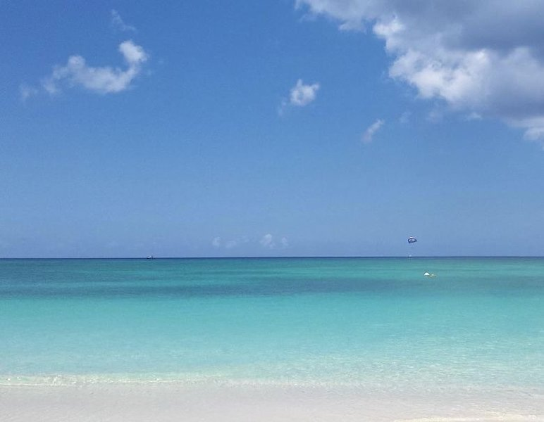34 Steps to GORGEOUS Seven Mile Beach - Beachfront at Cayman Reef Resort, vakantiewoning in George Town