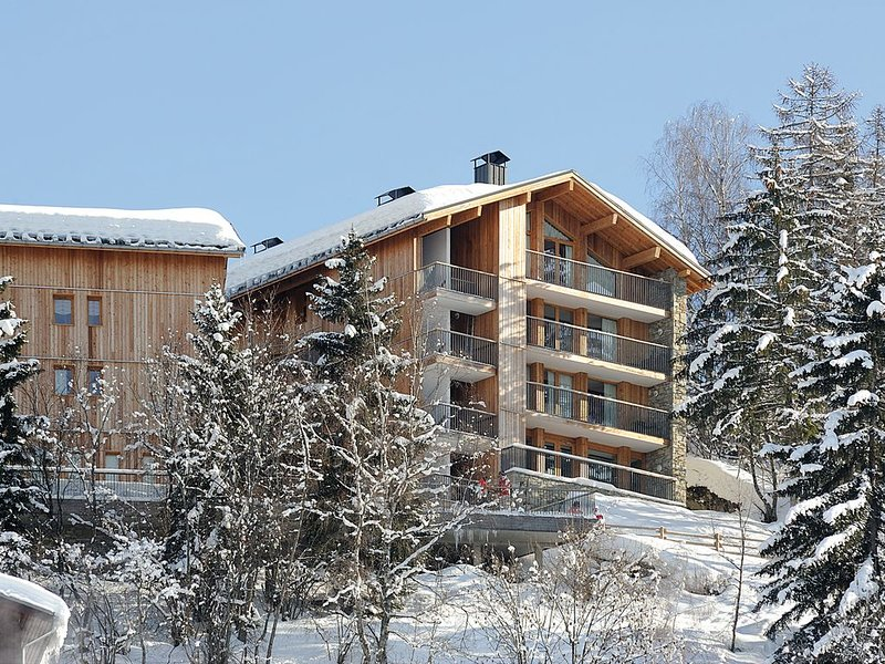 Montchavin Stunning Modern Ski Flat  47M/2  Breathtaking views Sleeps 6 people, location de vacances à Montchavin