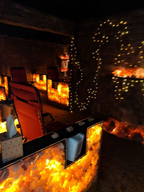 Salt cave in Downtown Wooster only 8 minutes from the cabin! Guests get a 15% discount!