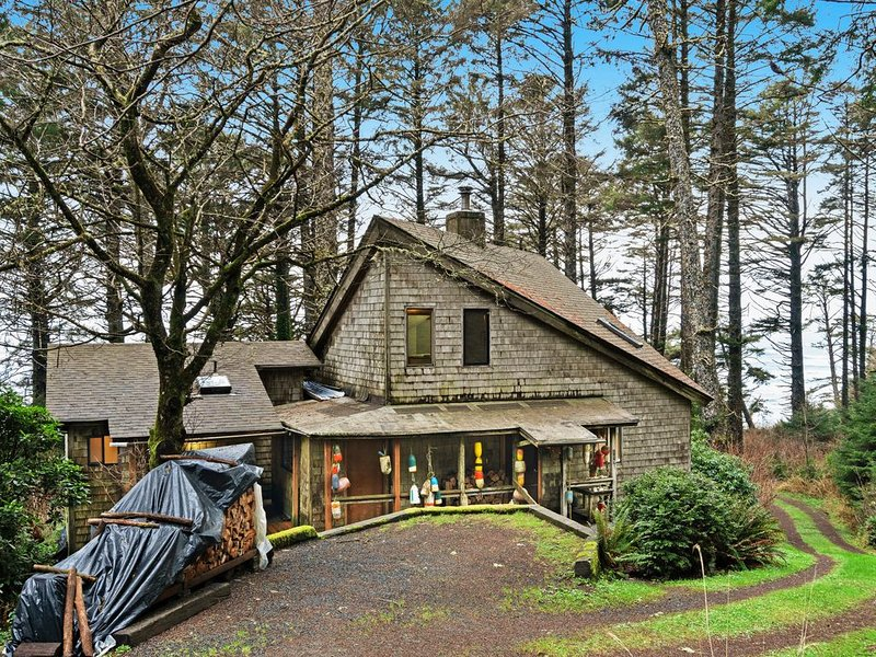 Dog-friendly, rustic & beachy cabin in the woods w/ deck - walk to the beach!, holiday rental in Copalis Beach