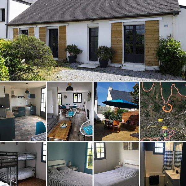 Maison de vacances idéalement située entre golfe et ocean, vacation rental in Arzon