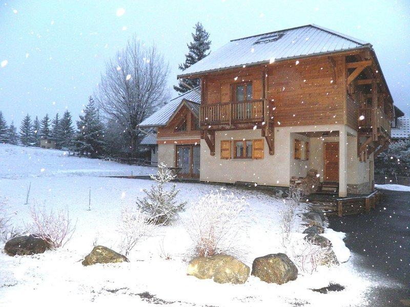 Chalet Serre Chevalier les Guibertes - 9 per. - pistes de ski  à 5 mn en voiture, location de vacances à Le Monetier-les-Bains