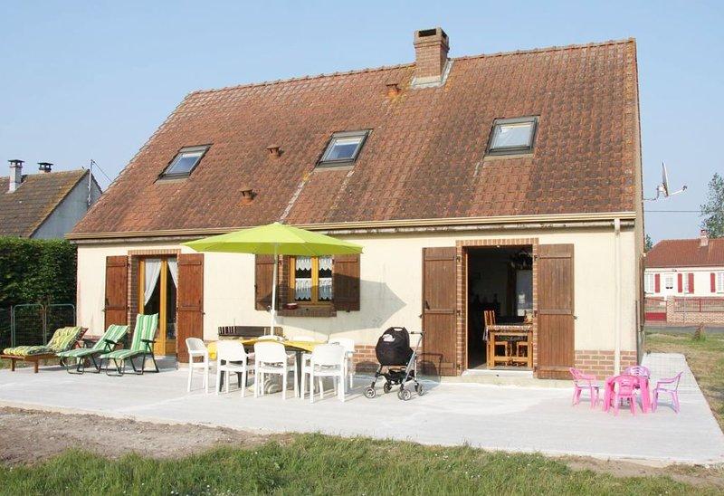 Pavillon Le Crotoy Saint Firmin Baie de Somme, casa vacanza a Favieres