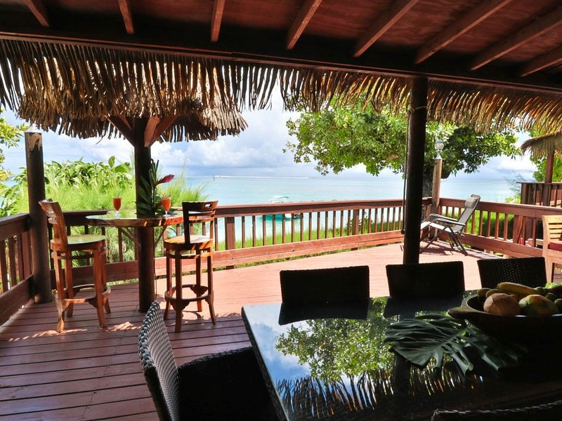 This is the DREAM HOUSE! Breathtaking luxury beach front house.  Get sandy!, holiday rental in Parea