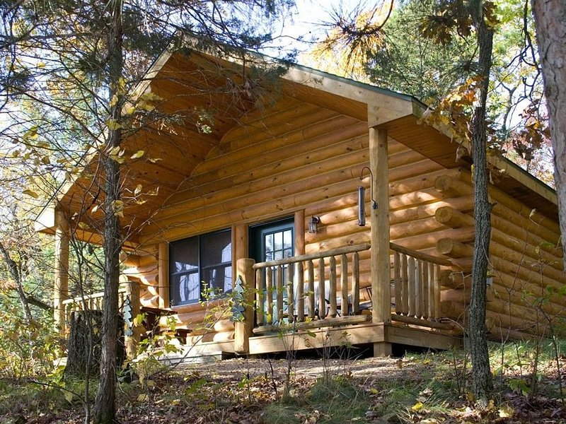 Private cabin w/jacuzzi tub, gas fireplace close to several famous parks, vacation rental in Reedsburg