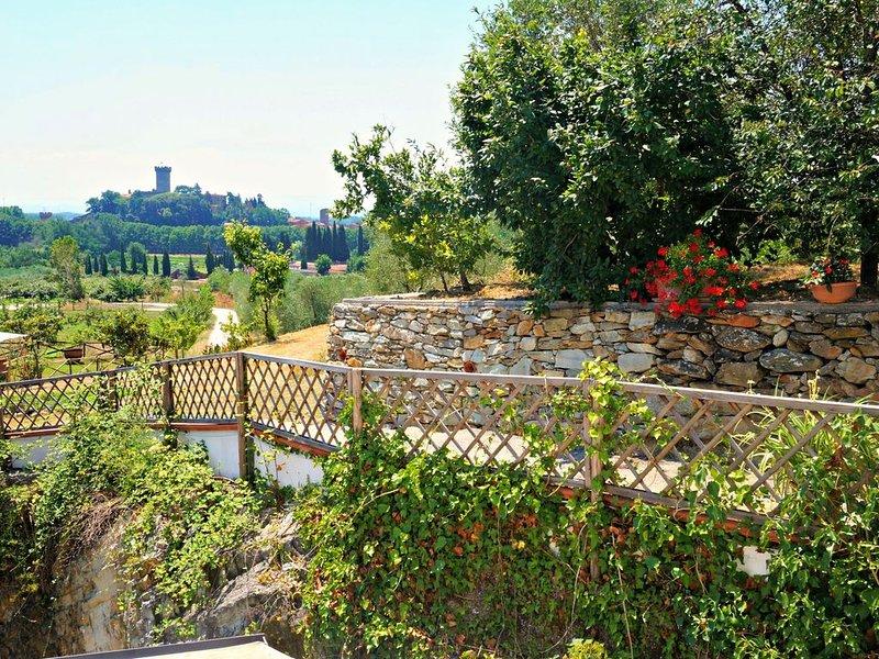 Charming olive farm apartment, private patio, beautiful views, close to village, casa vacanza a Bientina