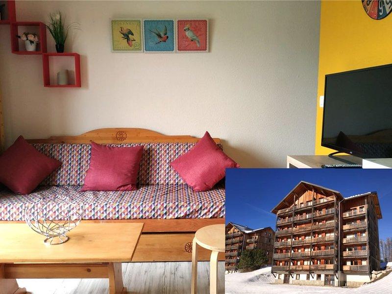 Vue panoramique 150 m pistes/activités/commerces, alquiler de vacaciones en Le Devoluy