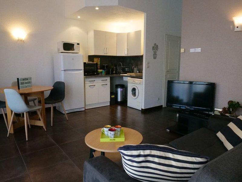 Appartement très calme à Besançon pour 2 personnes avec grande terrasse, holiday rental in Trepot