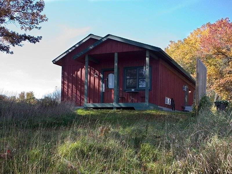 Private guest house w/jacuzzi tub, gas fireplace close to several famous parks, vacation rental in Reedsburg