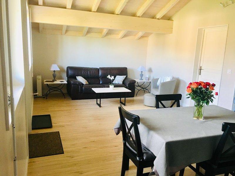 Appartement  chaleureux 30 mins de Genève, aluguéis de temporada em Loisin