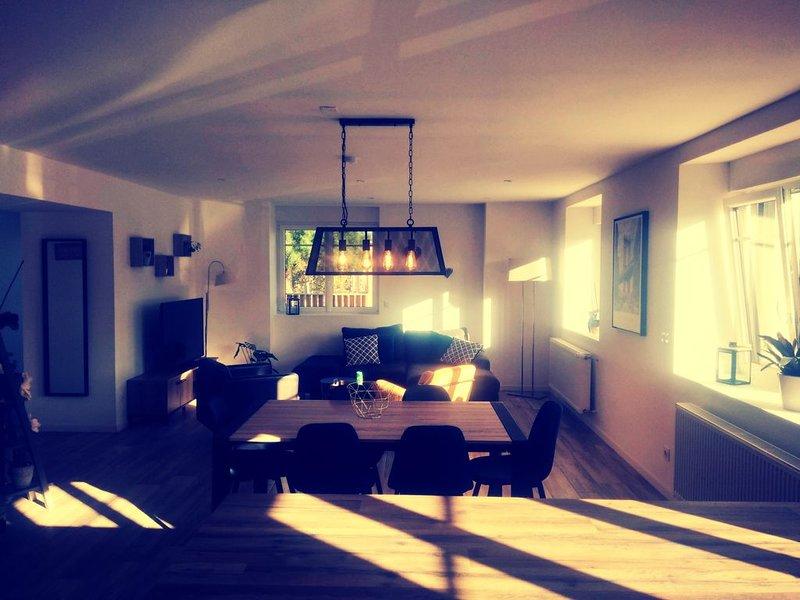 Maison cosy de 135 m² + Jacuzzi 6 pers, 5min de Rennes accès facile 2x2 voie, holiday rental in Saint-Sulpice-la-Foret