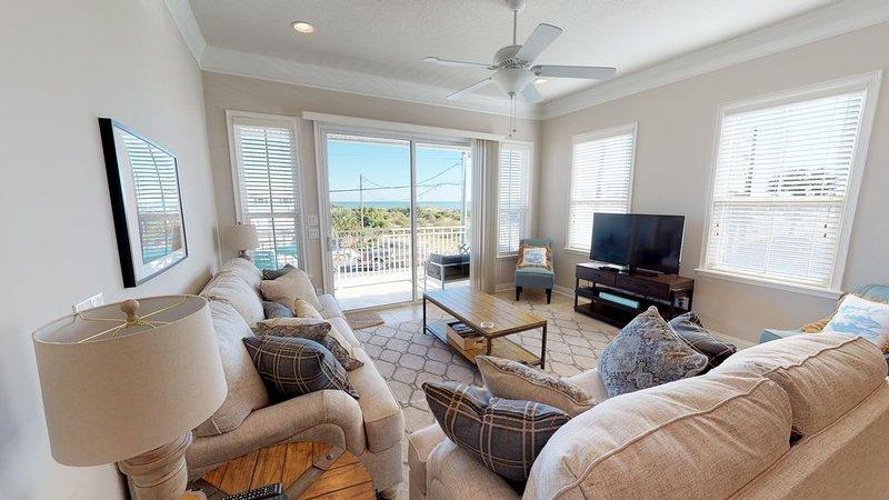 Ocean View Townhome across from beautiful Amelia Island Beach, holiday rental in Amelia Island