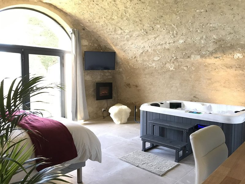 Loft en Pierre dans le Luberon avec Jacuzzi privatif, alquiler vacacional en Montfuron