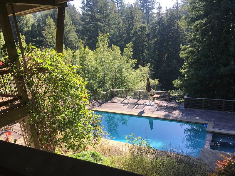 Sun Drenched pool, Private, Peaceful homeNestled at the Base of Mt. Tam, holiday rental in Marin County
