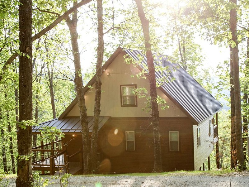 Mountain Crest Treetop- Luxuriously Cozy Home with Stunning Ozark Views!, holiday rental in Parthenon
