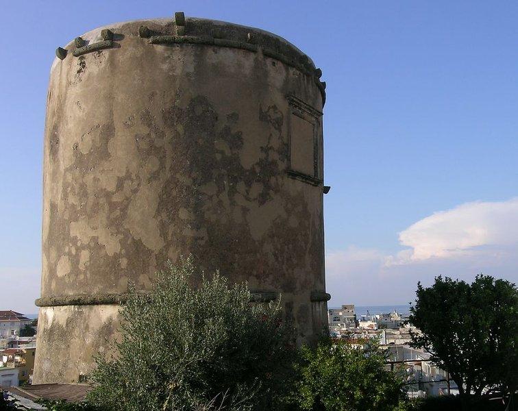Torre  su due piani ,nel centro storico di Forio con suggestivi panorami ., location de vacances à Forio