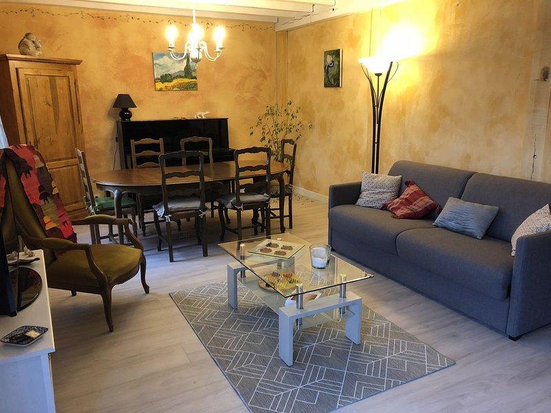 Vaste maison mitoyenne, avec jardinet, dans quartier calme, vacation rental in Genlis