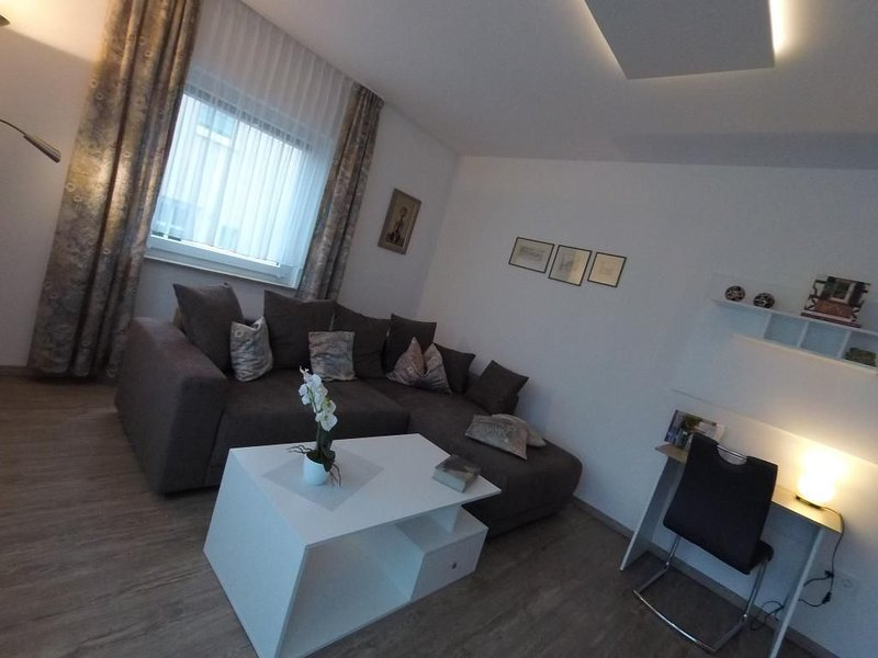 """Apartment """"time out"""" with terrace in a quiet location-living room"""