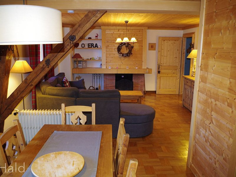 Bel appartement cosy de 63 m², à 100 mètres du centre-ville de Combloux., holiday rental in Combloux