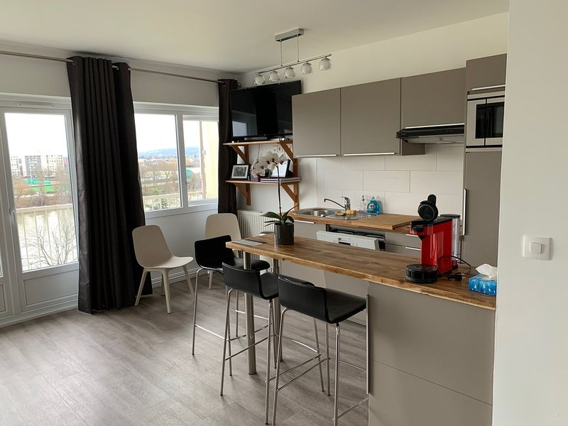 Appartement Le pecq/St Germain en Laye,  calme, lumineux, vue sur la seine, location de vacances à Villennes-sur-Seine