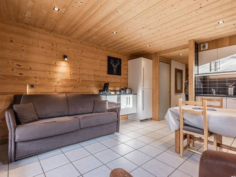 La Duche 101 appartement 4 pers, wifi,  à 400 m des pistes du Grand Bornand, casa vacanza a Le Grand-Bornand