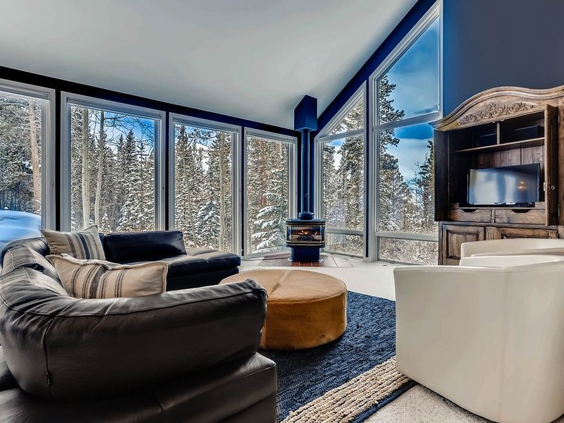 Sunny and bright this home is nestled in the Aspen trees on 1.81 acres, vacation rental in Breckenridge