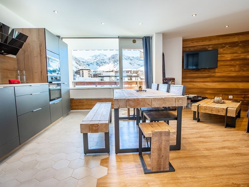 SUPERBE appartement à Tignes 2100, au pied des pistes au Lavachet!, holiday rental in Tignes