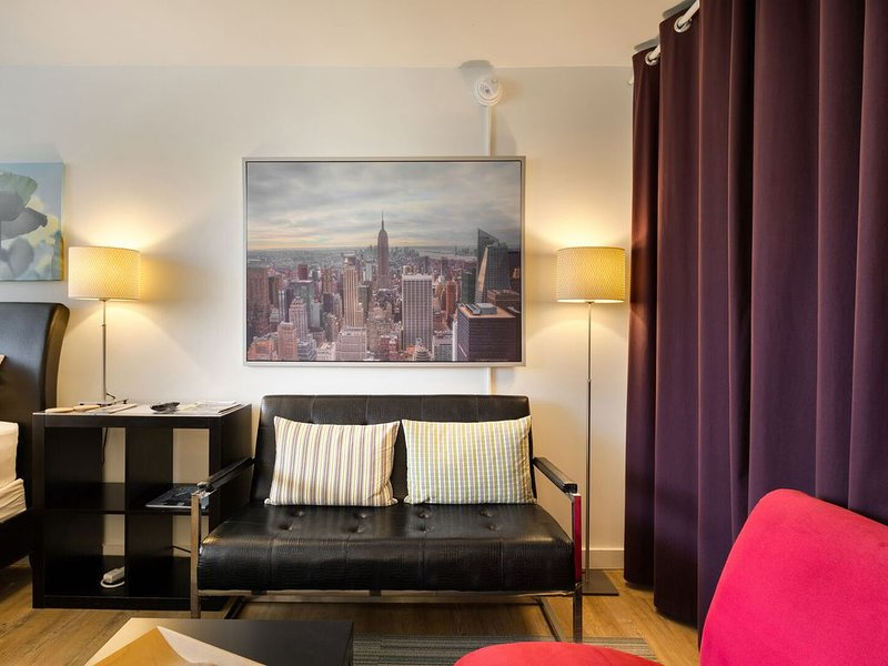 Coin salon confortable - Appartements meublés Midtown Atlanta - Chic Premium Studios On 25th