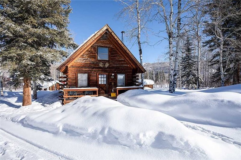 CABPI by Pioneer Ridge: Rustic Log Cabin! Enjoy a quiet retreat by Buff Pass, holiday rental in Clark