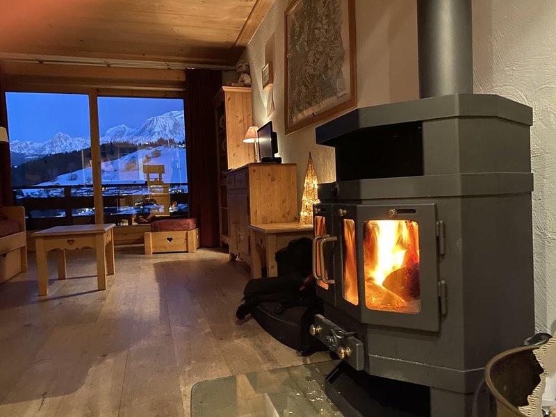 Appartement de charme dans chalet face au Mont Blanc et proche pied des pistes., holiday rental in Combloux
