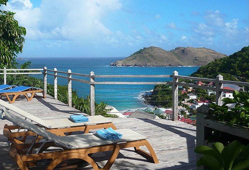 Modern, Romantic, Great Value!  Gorgeous views, steps from Flamands Beach, holiday rental in Anse des Flamands
