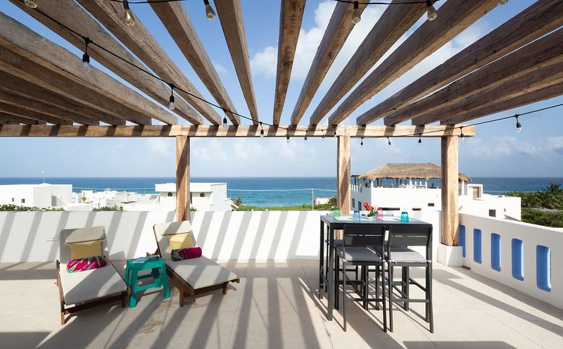 New house + spectacular views from private rooftop at Punta Sur Isla Mujeres, holiday rental in Playa Mujeres