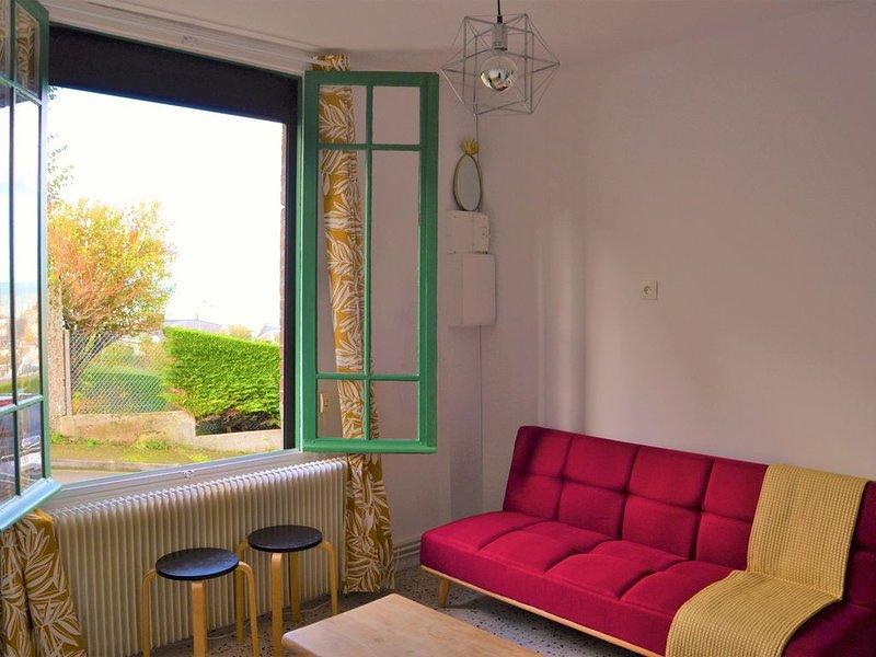� La Belle Aultoise, vue mer, Ault Baie de Somme, villa 4 chambres WIFI Jardin, holiday rental in Saint-Quentin-la-Motte-Croix-au-Bailly