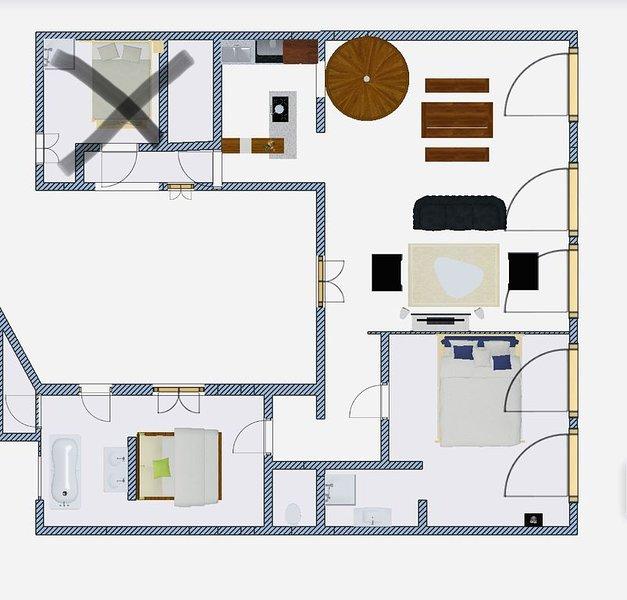 Le Mirabeau Appartement de standing en cœur de ville, holiday rental in Prat-de-Cest