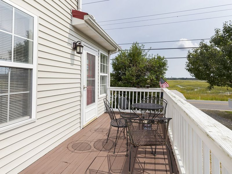 Relax on the Side Deck with lovely views of Assateague.