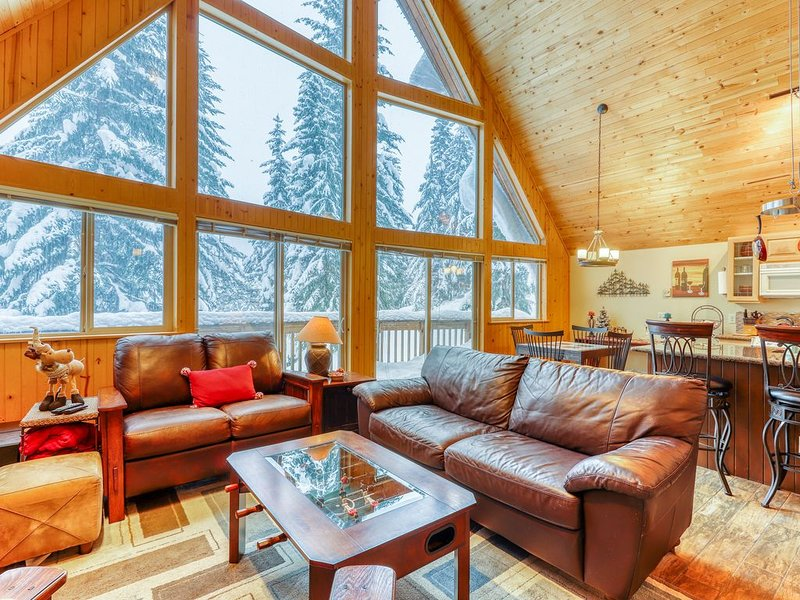 New Listing,  Ski cabin at the summit, mountain views, & foosball table!, holiday rental in Snoqualmie Pass