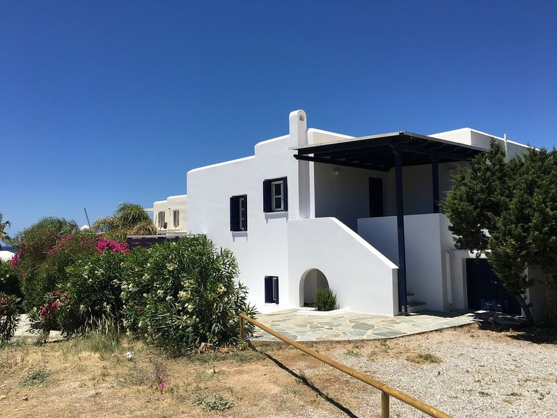Votsalo family house with 2 b/r , private garden, next to beach, holiday rental in Agios Georgios
