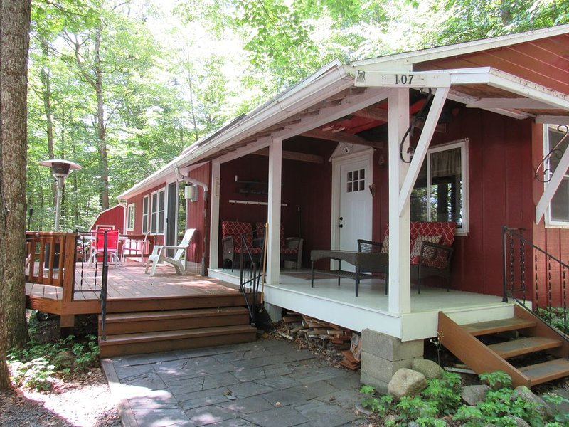Beautiful updated cozy cabin minutes from town, location de vacances à Old Forge
