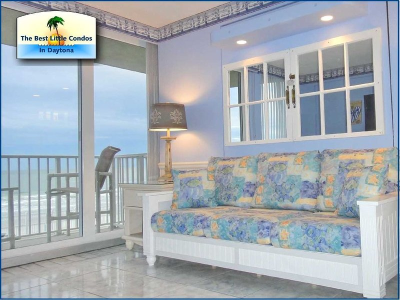OCEANFRONT VIEWS FROM LR & BR - CHECK OUR LAST MINUTE SAVINGS, holiday rental in Daytona Beach